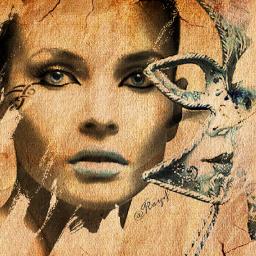 freetoedit girl artdigital woman mascara @chuliluna19