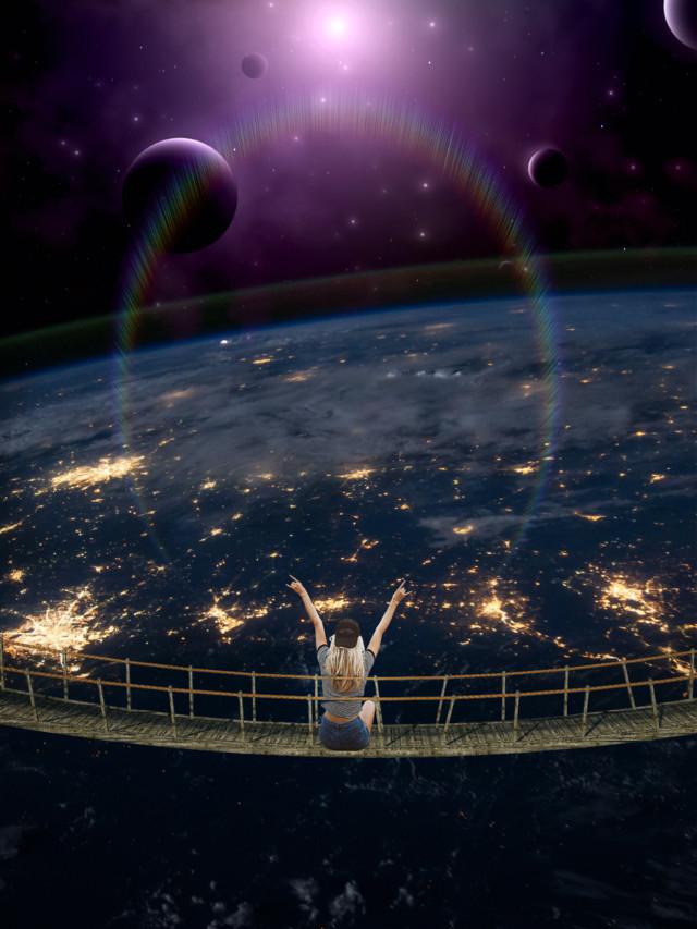 #freetoedit #myedit #madewithpicsart #editedbyme #editedwithpicsart #surreal #galaxy #earth #planet #picsart #prism