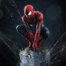 spiderman debris spiderweb rain mask ftestickers doubleexposure drawtool magicbrush madewithpicsart picsarteffects marvel night freetoedit
