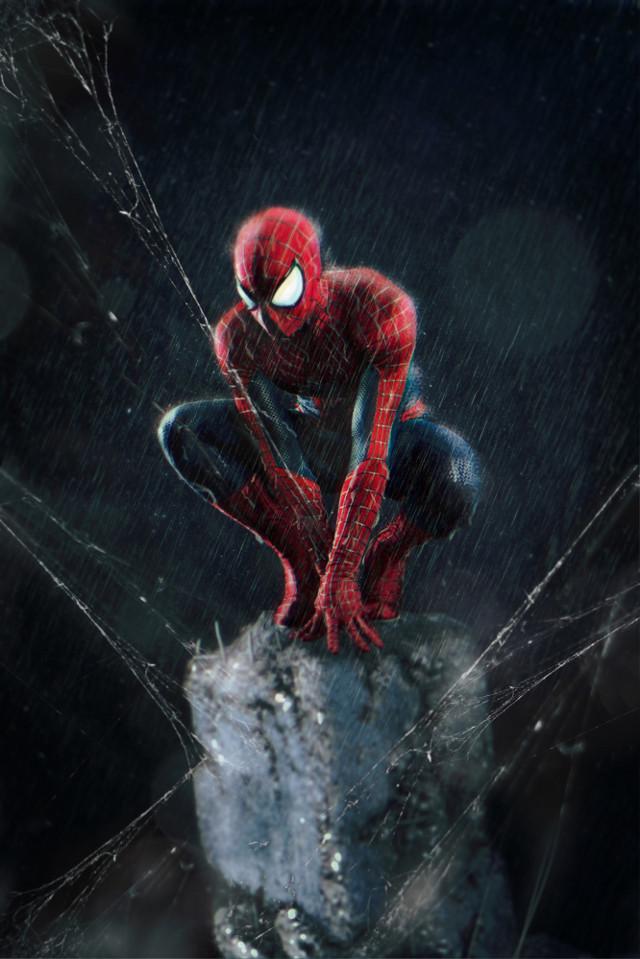 #spiderman #debris #spiderweb #rain #mask #ftestickers #doubleexposure #drawtool #magicbrush #madewithpicsart #picsarteffects #marvel #night