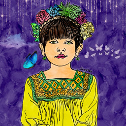 freetoedit cutebaby girl recolor art