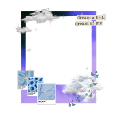 frame sticker dreamer purple blue aesthetic clouds sky butterflies sparkles gradient dreamy night imagination lovely soft colorful color freetoedit