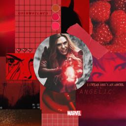 scaletwitch freetoedit marvel red aesthetic vintage background wallpaper wandamaximoff avengers mcu