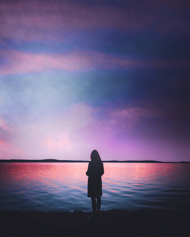 #picsart #freetoedit #remixit #sunset #sunrise #sun #clouds #glow #sky #stars #night #moody #dark #light #color #background #view #png #silhouette #nighttime