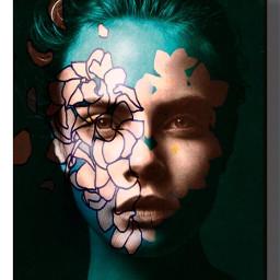heypicsart girl face design awesome freetoedit