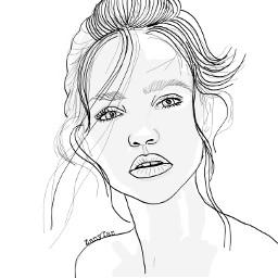 expression faceart outline outlinegirl outlinedrawing face sketch colorme freetoedit