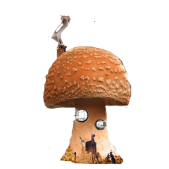 freetoedit fantasy fairy mushroom house magic