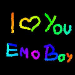 freetoedit emo kids scenecore edgy aesthetic kidcore 2000s childhood rainbow love emoboy emokid loveyou text grunge glitchy egirl eboy neon colorful glitchcore cyber punk