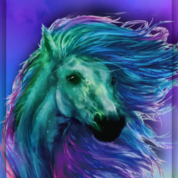 freetoedit fantasyart watercolor horse unicorn aesthetic holographic colorful gradientcolors framed 3deffect makebelieve makeawesome myedit madewithpicsart