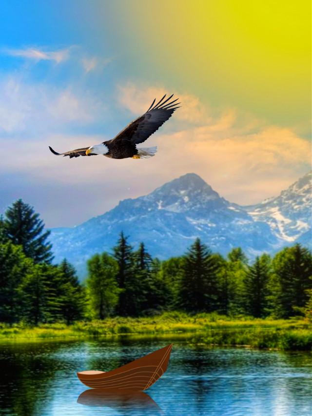 #freetoedit #landscape #scenery #naturesbeauty #mountains #lakeview #lakeside #sun3 #picsarteffects #artisticedit #becreative #makeawsome #myedit #madewithpicsart