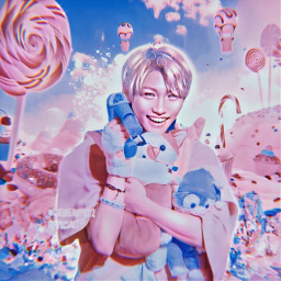 freetoedit kpop aesthetic kpopedit kpopaesthetic felix straykids blue pink