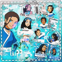 katara atla avatar avatarthelastairbender waterbender water blue animeedit animedits edit freetoedit
