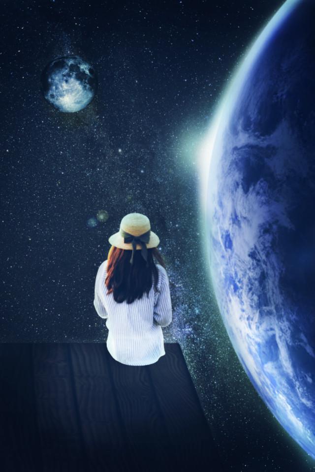 #freetoedit #myedit #madewithpicsart #editedbyme #editedwithpicsart #picsart #surreal #galaxy #replay #earth
