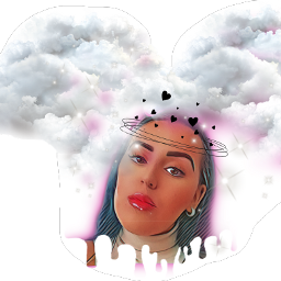 personal girl inked clouds clout tattoo pink sticker freetoedit