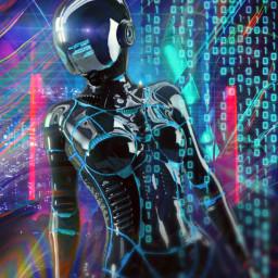 freetoedit cyber city communication space cybergirl network travel matrix code surreal unsplash