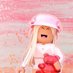 aesthetic freetoedit pink adoptme roblox girl gfx
