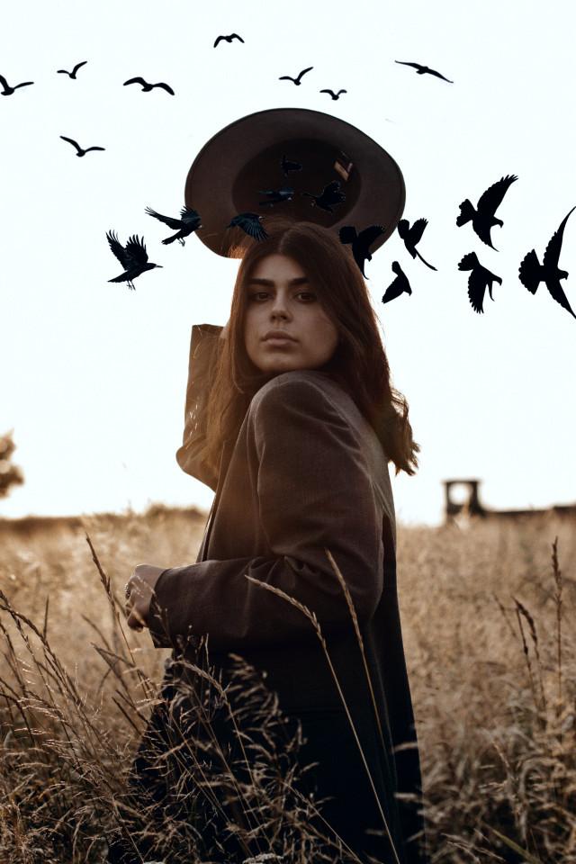 #freetoedit #magic #birds #birdsphotography #girl