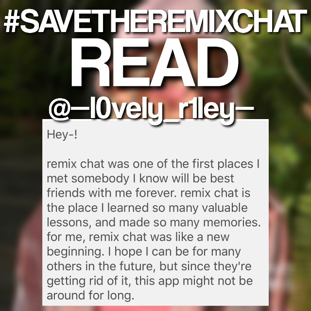 @--l0vely_r1ley--  says this 👆    @pa @pa @pa @pa @pa @pa @pa @pa @pa @pa @pa    REPOST TO SPREAD AWARENESS  DM ME AND TELL ME UR OPINION OR MEMORIES AND THOUGHTS ON THE REMIX CHAT   Note: your opinion may not be posted immediately because i will be busy at times. Also, if you would like to remain anonymous then lmk. If u have any questions pls DM me 😊    Taglist: @onlydreaming @girlykatt @mylilkpopedits @yeedleyoodle @hqneyswcct- @smol_argent @smol___cat @jungkooksupportbot- @kiimbellita @seoulswirl @ji_hope708 @euphoria_noodle @vqnilla- @luvsforu @dioreleven- @foreveranarmy @awhthomas_ @maridescently @rybkatwins_coconut @____sqcxst-c @boxedanime @editsoutline09 @butera_clouds @fqiryandi @oceqneyes- @stuckwithmyself @lani_jade5 @chilly_billie @diorable @txt_4life @itsmehvicky @glossyy_niche @_rosegold_1_edits @longlivejahseh18 @weebthings_56 @afterglow_swiftie @elyysiian @lennon132 @galaxy_wolf_uwu @jeongyeonie @liqux @sweet_bunniblossom @toxoisback @gxnerationwhy @softsxunds @luhvxjuls @-stranqerthinqs @lcvely_outlines @shinning_solo @clarisalikespoptarts @honeiixcandii @pxrtypoison @crazycharchar @auroratiny @hyunjin_support_bot @clqudybliss- @-screaming_in_gqy- @kittyrabbit2 @elainaluber2010 @e_editzzz @fallingfor30minutes @anatheidiot @gaybestfriend_ @itsjewelsofficial @yeonjuuuunie @redpanda000 @awhsugar- @sunny-skyz @bxbyjae102 @pandaherron @oddly_ecliptic @iiavanii @unicorn-eater  @averysmemes @animesworld_ @cleostudios @staysomnia_4ever @jellyhyuck @rqsycove- @ew-nessa @brokeinpeices @xxstarchildxx @-hxneylix @-kevins_moonie @pandapage @sweetxviolet @judy_08 @needyquerubine @awh_t3ddybear @focus-onme  @xedits9x @chxrlis_dunkin @charlii_avanii @jcmilq @finfreakingwolfhard @animesworld_ @staysomnia_4ever @-taetae_ @kpop_studios @teenymints @todaystopteawithme @sweetpotatounicorn5 @tcddybear @nct776 @-ilqveyou @queen_sof @giabio @nena_mark @destielsabriellue @lilyjord @becca_b- @layler56 @-_snail_- @sickd0lly @-dumbass_trash- @rayray27wdw25 @wqtermelcnedits- @