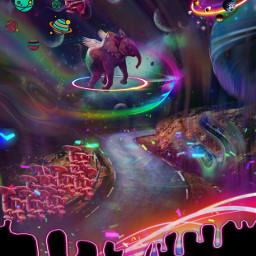 neon neonart neonswirls neonaesthetic fantasy surrealart surrealistic