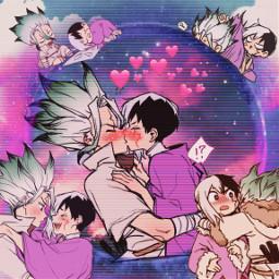 drstone senkuishigami senku gen genasagiri asagirigen sengen senkuxgen anime freetoedit