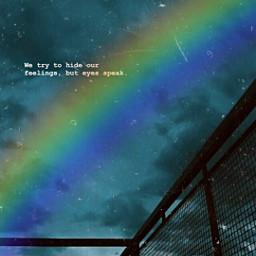 freetoedit remixit plzfollow eyes speak feelings rainbow stripe scratcheffect aqua shy gate sillouette pretty