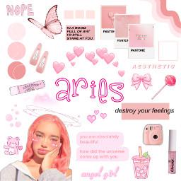 zodiac zodiacsign zodiacsigns aries arieszodiac pink pinkaesthetic