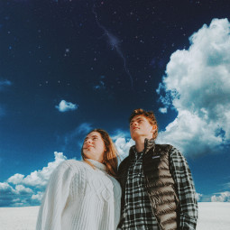 newedit picsart sky skyblue couple myedit clouds freetoedit