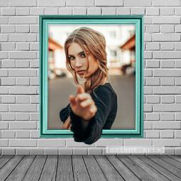 frame prettygirl 3d threedimensional wall freetoedit