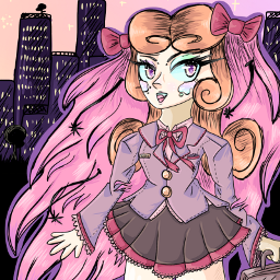 pastel pink pastelpink pastelcolors sunset city aesthetic purple hair beatiful cartoon anime animegirl bows