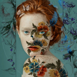 freetoedit flores mujerbonita girl woman mujer arteffect artdigital arte @chuliluna19