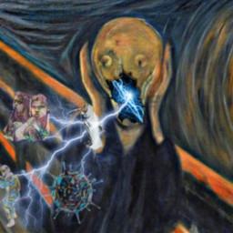 grito scream munch museo arte rcbreakthroughportrait freetoedit