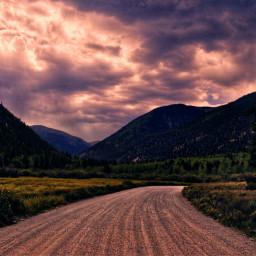 nature naturephotography sunset clouds dusk mountains dirtroad colorado freetoedit