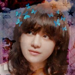taehyunggirl cute purple pink butterfly rcwarmneutrals warmneutrals freetoedit