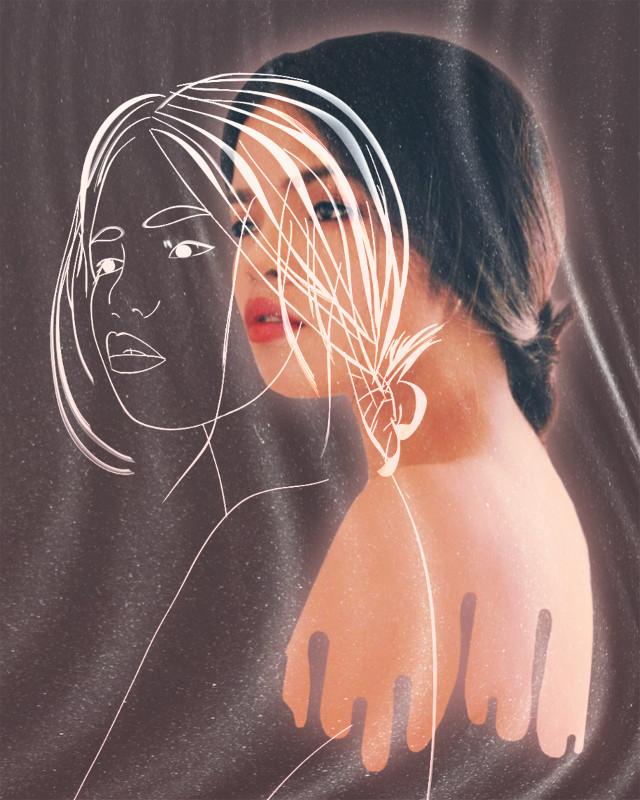 #freetoedit #artisticselfie #outline #lines #creative #myedit #girl #madewithpicsart #araceliss #art #artistic #makeawesome #mask #ripple #ripplemask