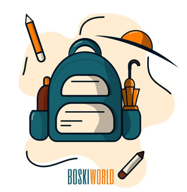 School time!  .  .  . Made using Adobe Illustrator CC 2020  Colors used: • #001524  • #15616D • #FFECD1 • #FF7D00 • #78290F Have a beautiful day/night!     #picsart #papicks #illustration #adobeillustrator #drawing #vectorart #art #creativity #bag #school #colors #colorpallette #umbrella