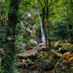 asturias hdr waterfall landscape water