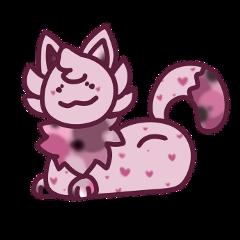 cat kitten catart originalart cute pink digitalart kitty freetoedit