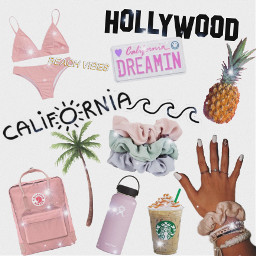 angels droplets pinapple hollywood pink california bathingauit kranken hydroflask palm braclets