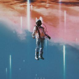 freetoedit astronaut surreal surrealism madewithpicsart yours_awesomeness