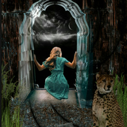 woman tiger freetoedit ircinthemirror inthemirror