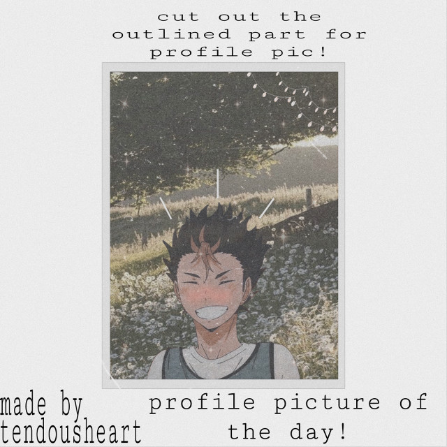 #border #lines #lights #white #cottagecore #forest #field #flowers #cute #aesthetic #art #aestheticart #aestheticanime #haikyu #haikyuuedit #haikyuprofilepic #haikyuprofile #nishinoya #aesthetichaikyu #artwork #profile #pic #profilepic #profilepicture #edits..hey! this is my other nishinoya one which was requested by @yuu-nishinoya!! i personally like this one better! pls dont steal my art!!...if YOU have a request pls dm me or comment!!