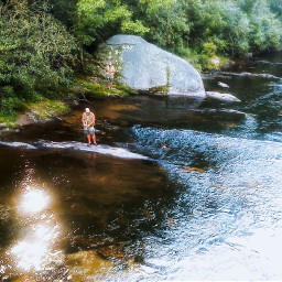 river summer water landscape myclick oldphoto freetoedit