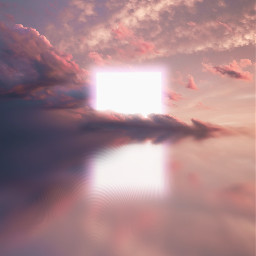 madewithpicsart photoart icyx dreamscape pink light tetragon white clouds mirror mirroreffect water