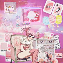 drstone drstoneanime drstonehomura homura anime animeedit pink aesthetic aestheticanimegirl aestheticpink animegirl cottoncandy freetoedit