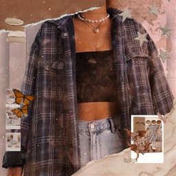 freetoedit 90sbaby 90's 90'sstyle outfit aesthetic æsthetic challengepicsart 90 rcwarmneutrals warmneutrals
