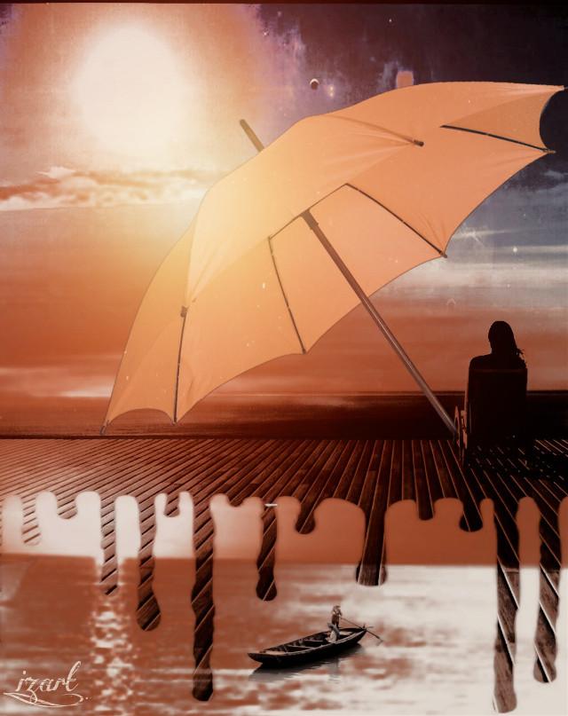 #edit #sunnyday #umbrella #surreal #papicks #makeawesome #doubleexposure