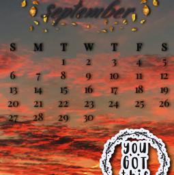 freetoedit calander septemberchallenge sticker srcseptembercalendar septembercalendar