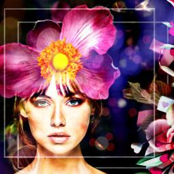 kinora myedit myflower pink madewithpicsart lovepicsart picsart closeup flowers whiteframe bokeh freetoedit