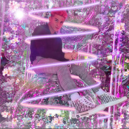 freetoedit neonspiral pink purple glitter hearts clouds tony lopez tonylopez lopezbrothers lopezbrother tiktok dance - - first dance