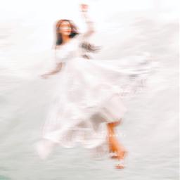 girl flying dreams white